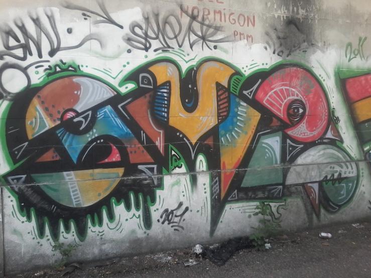 Muro de la calle Tomás Basañez IX