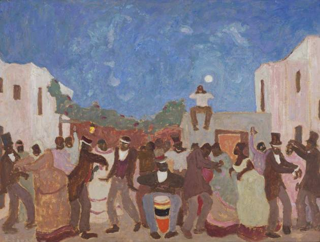 """""""Candombe"""" (1925) de Pedro Figari. Fuente: Museo Nacional de Artes Visuales"""